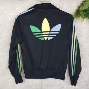 Adidas Grun Three Stripe Trefoil Track Jacket